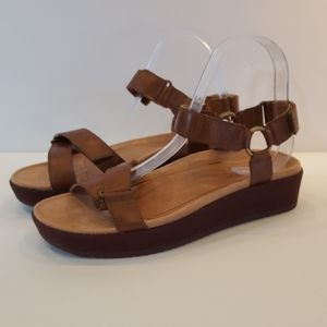 """Vionic """"Skayan"""" canvas covered wedge sandals with"""